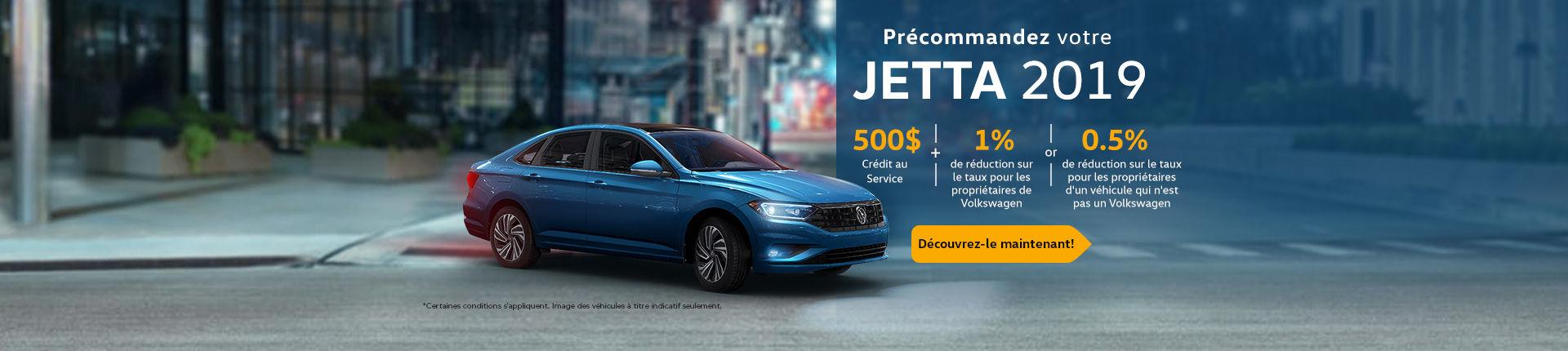 Précommandez votre Jetta 2019