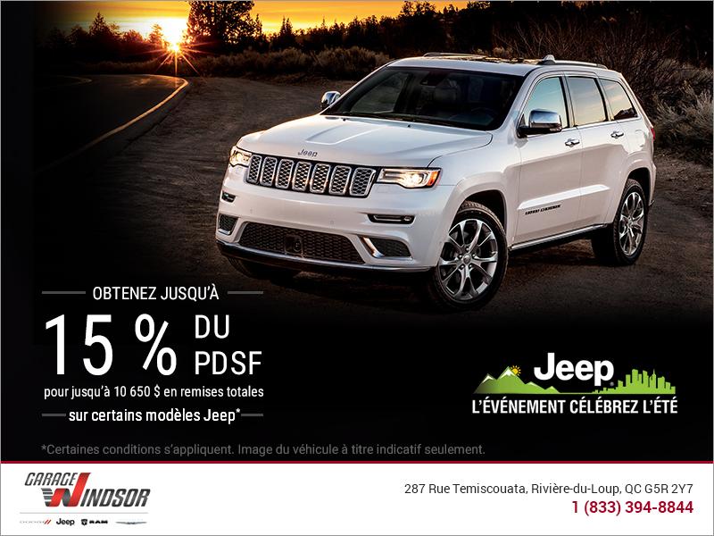 L'événement célébrez l'été Jeep!