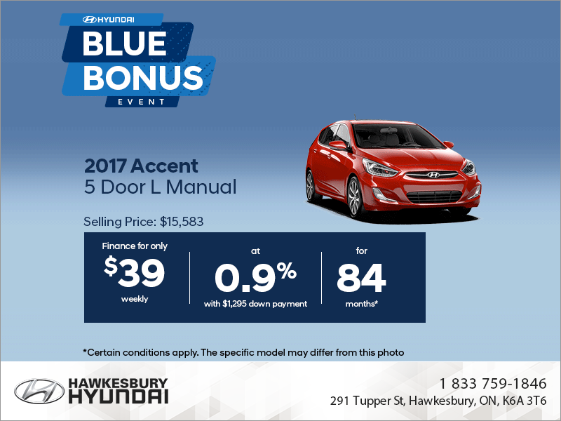 Get the 2017 Accent 5 Door!