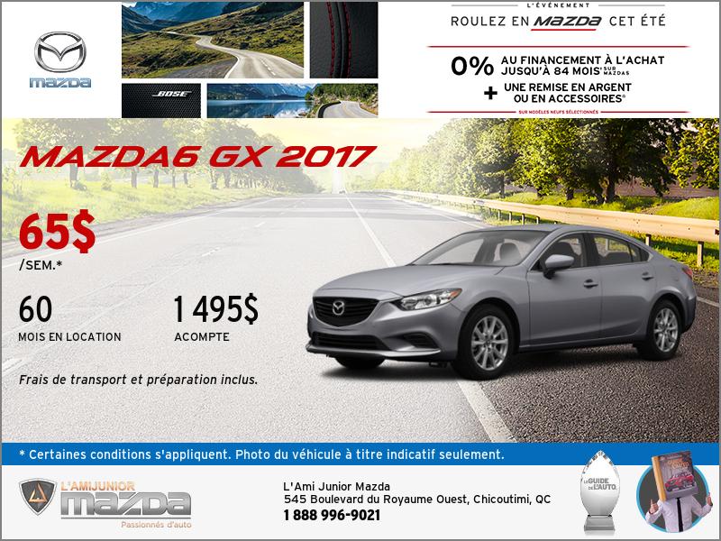 La nouvelle Mazda6 2017 en location