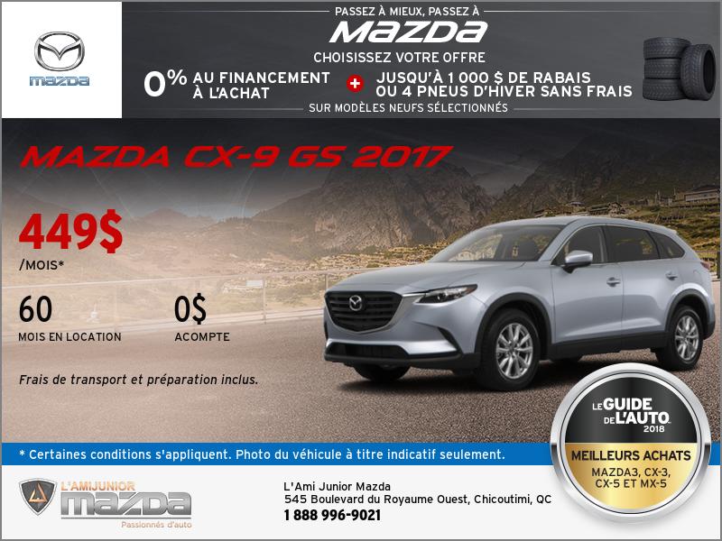 Obtenez la toute nouvelle Mazda CX-9 GS 2017