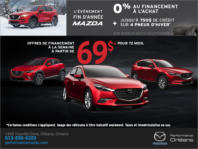 L'événement fin d'année de Mazda chez Performance Mazda à Ottawa