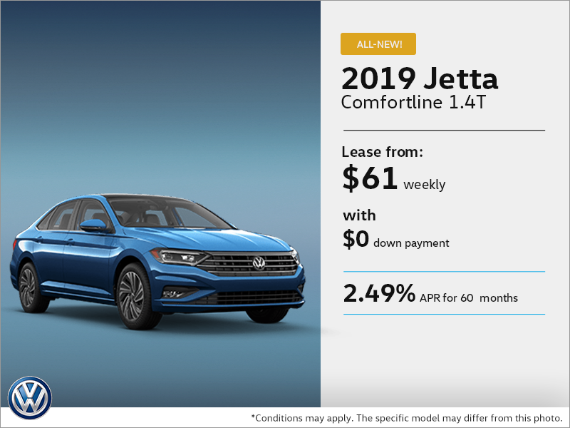 Lease the all new 2019 Jetta !