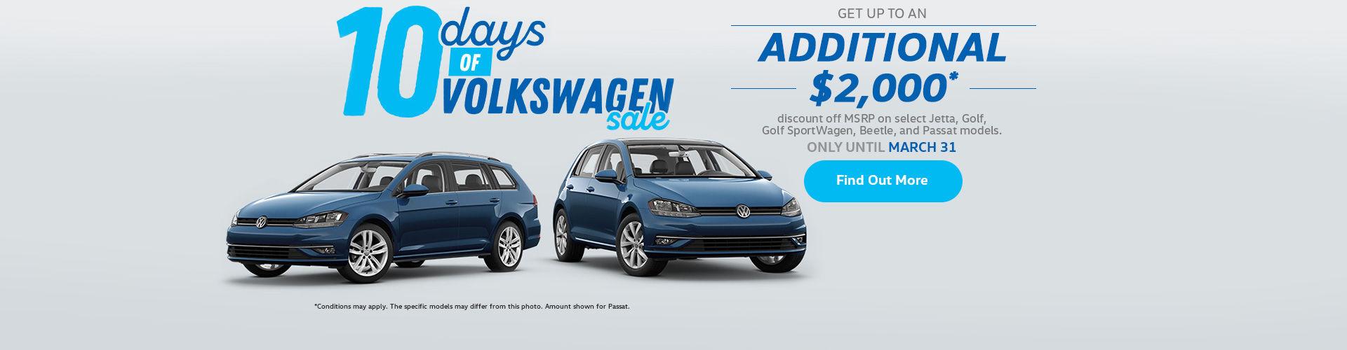 10 Days of Volkswagen Sale