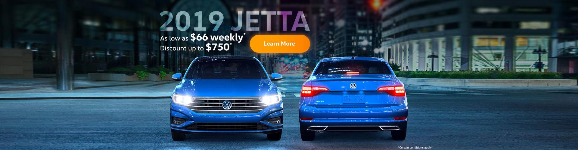 2019 jetta - $66 weekly