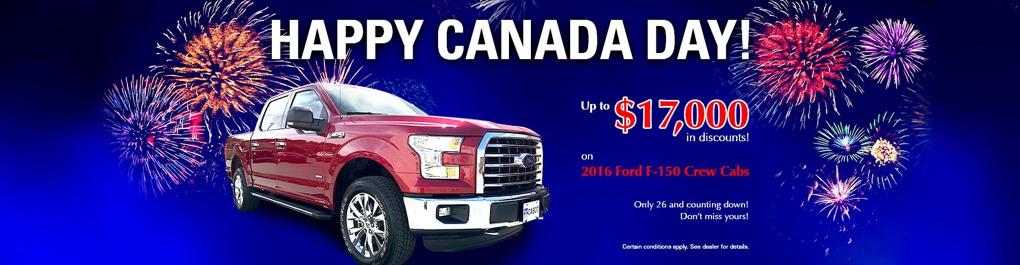 2016 Ford F150 Crew Cab incentive