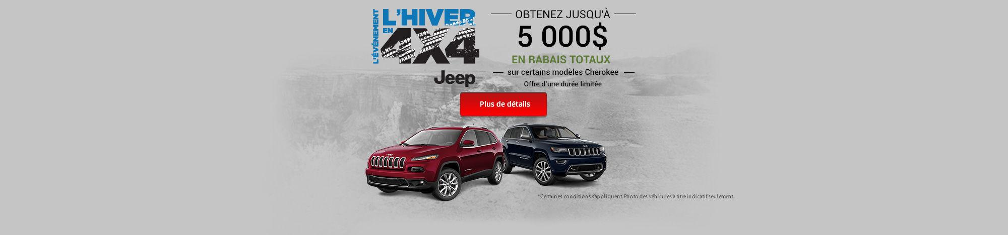 L'événement l'hiver en 4x4- Jeep