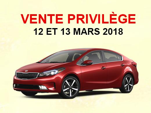 Vente privilège !