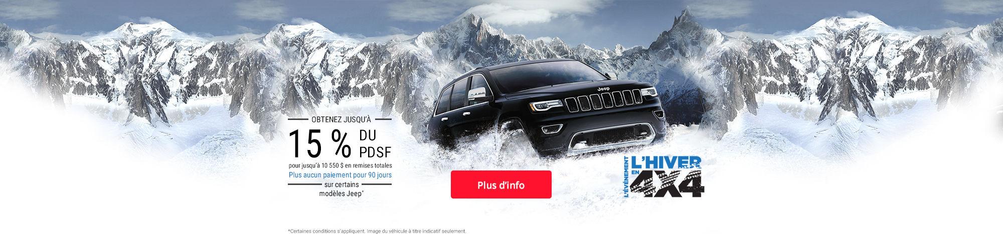 Événement l'hiver en 4x4 - Jeep