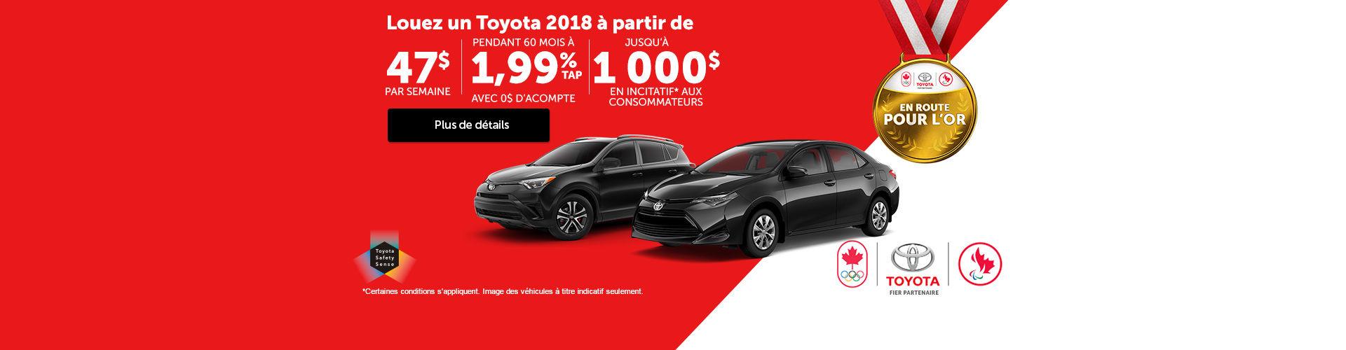 Vente mensuelle Toyota