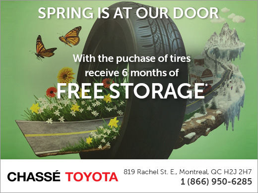 6 Months of FREE Tire Storage