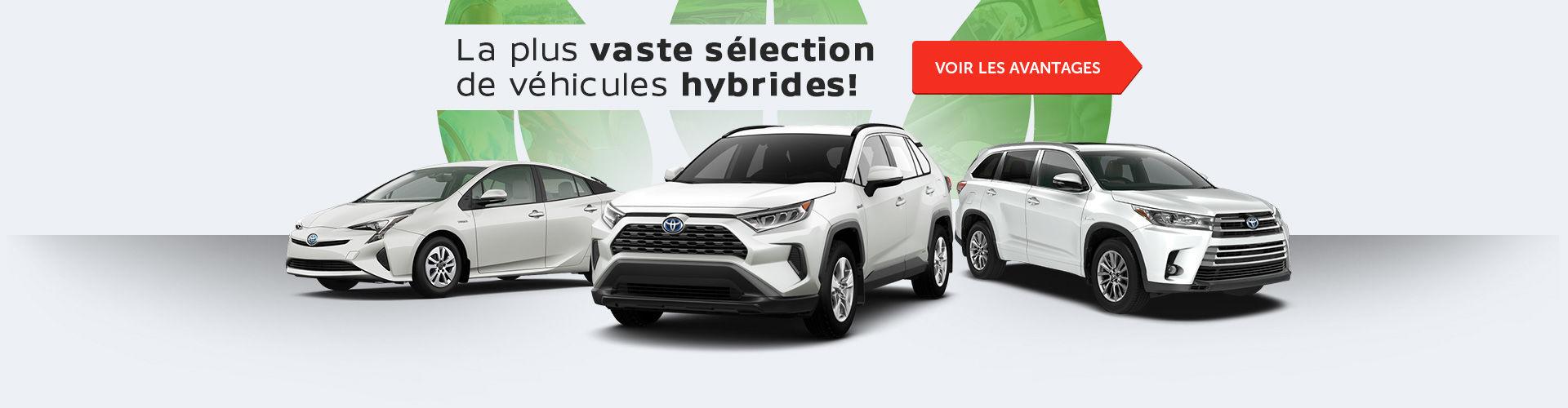 Sélection de véhicules hybrides!