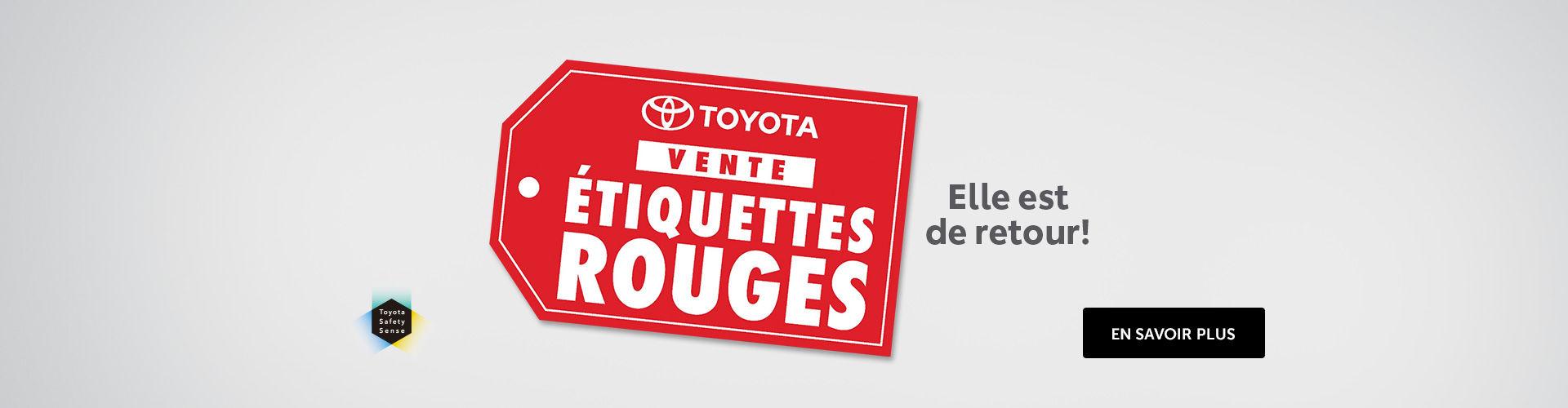 L'événement étiquettes rouges de Toyota