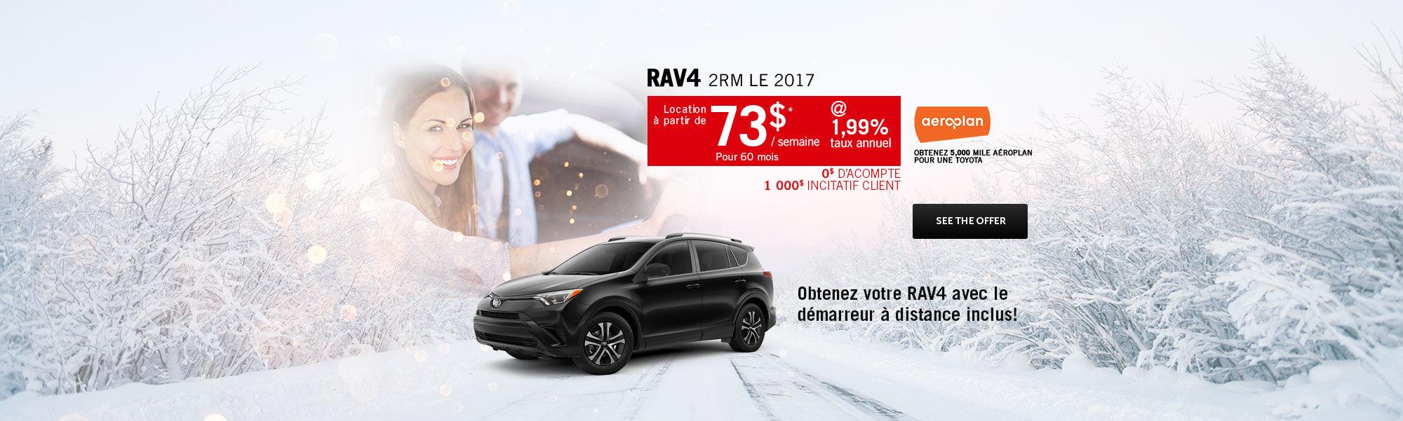 Saison des choix sensés - Rav4