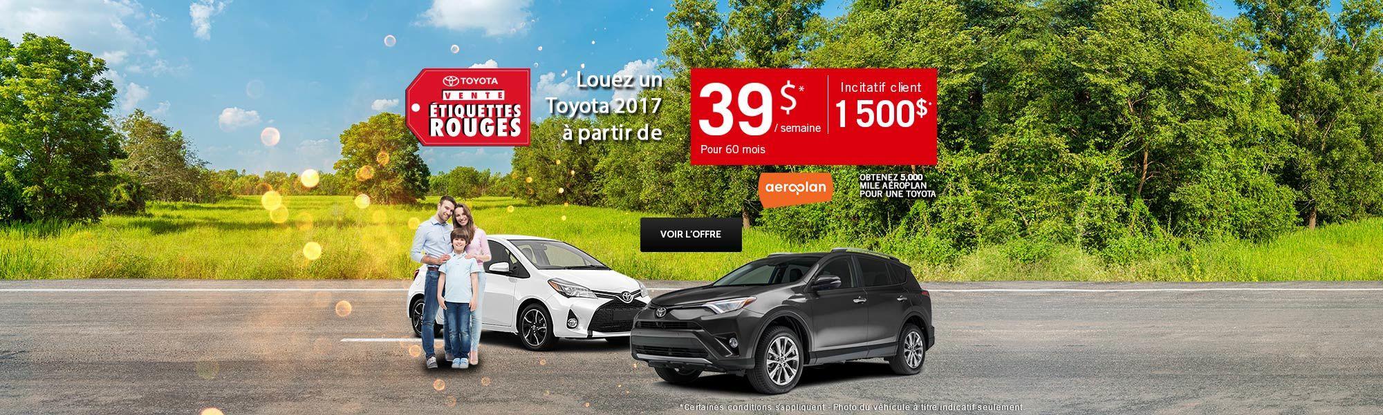 Vente étiquette rouges Toyota