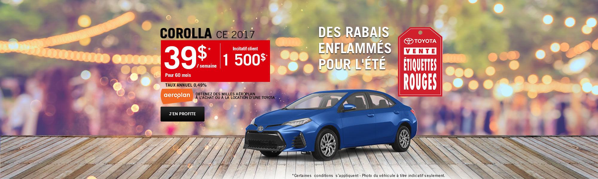 Vente étiquette rouges Toyota - Corolla