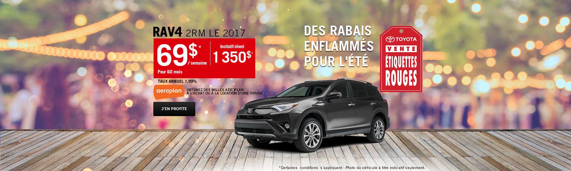 Vente étiquette rouges Toyota - Rav4
