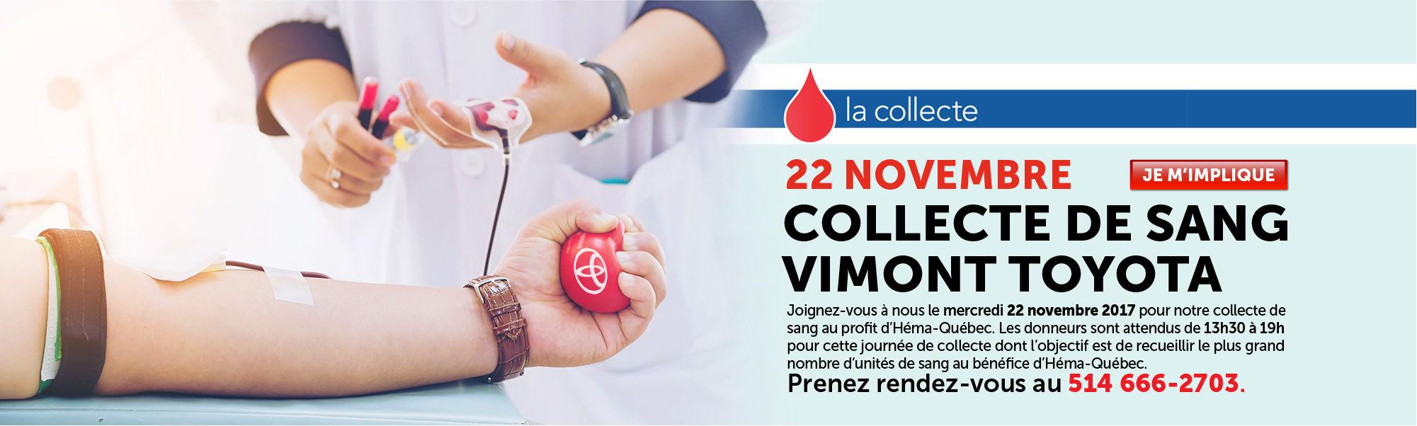 Collecte de sang Vimont Toyota Laval