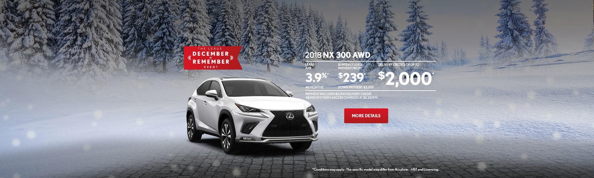 Lexus NX December