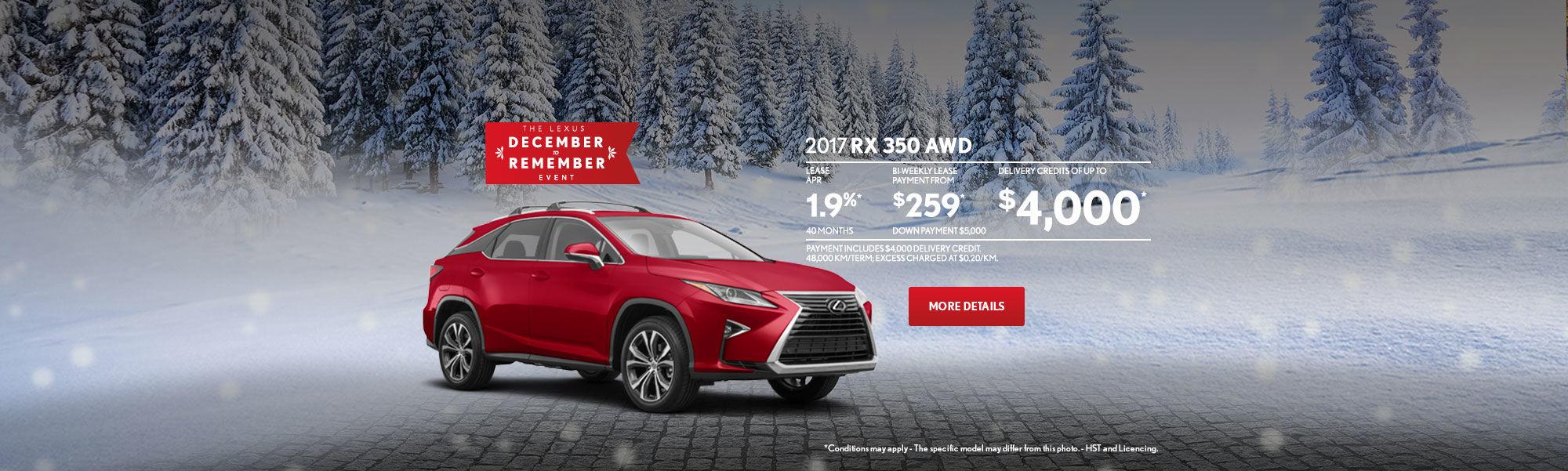 Lexus RX December