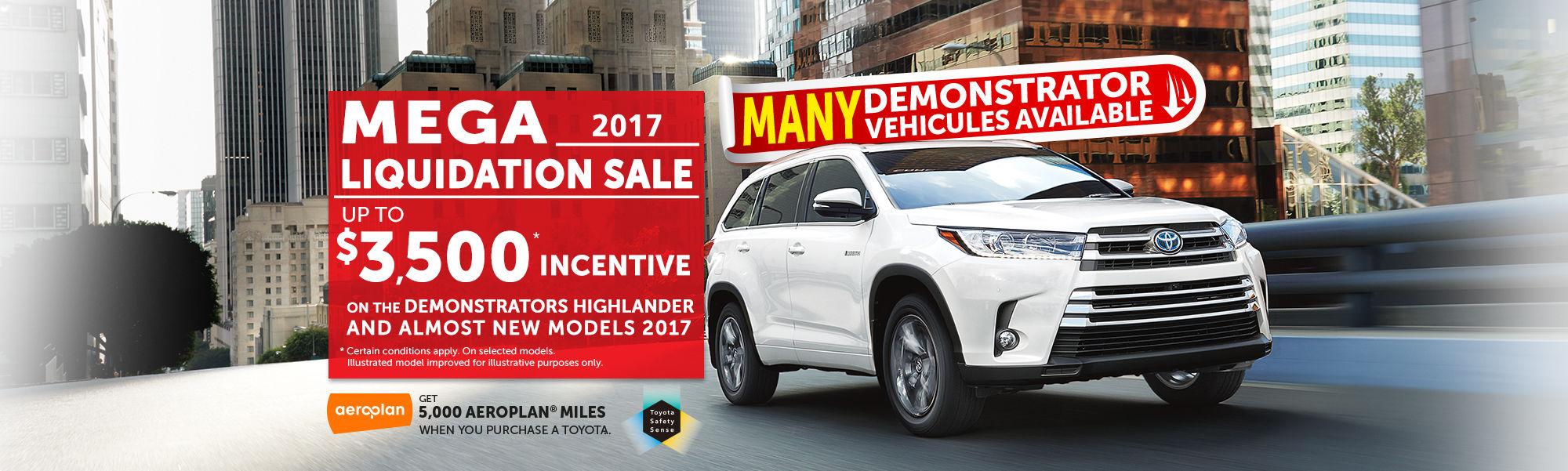 Mega Liquidation Sale - Highlander 2017