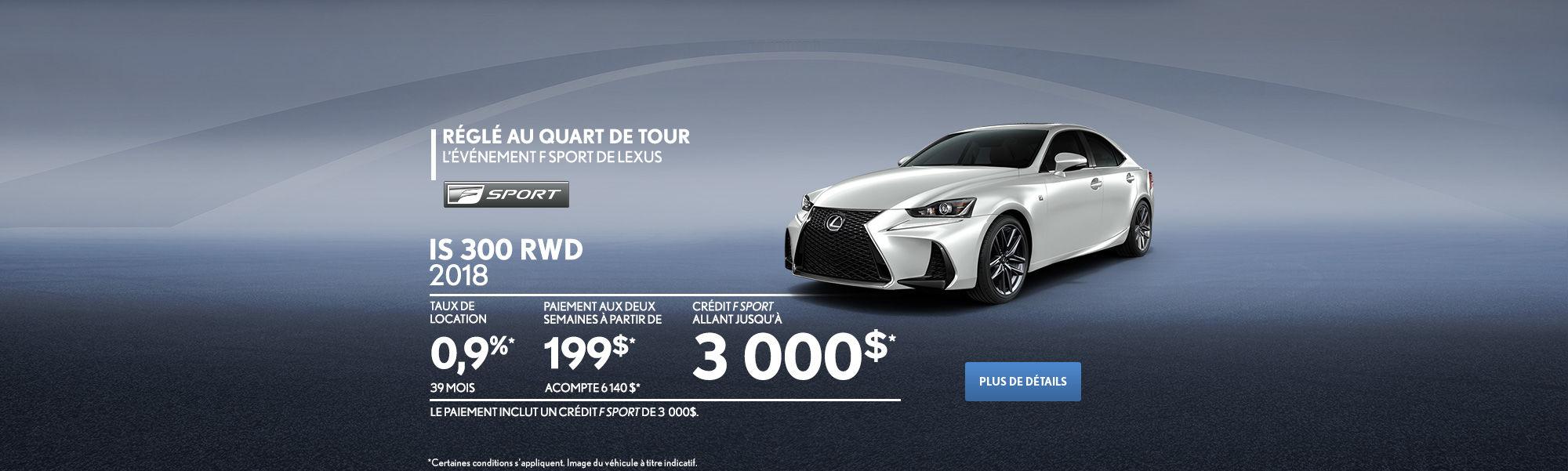 Lexus IS - header- desktop