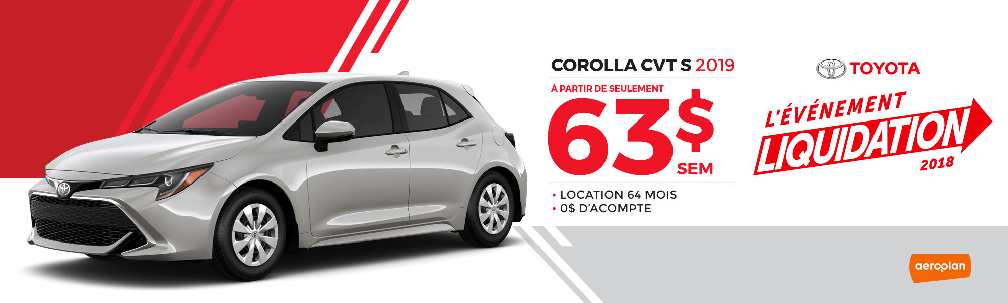 COROLLA CVT S 2019