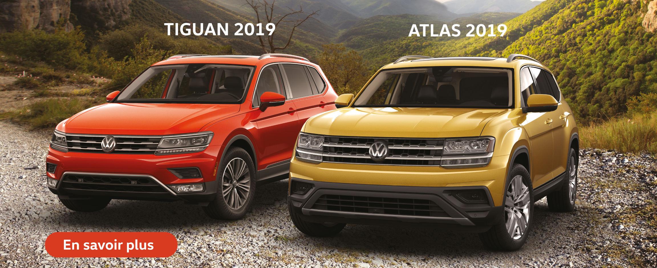 Le Tiguan et l'Atlas 2019