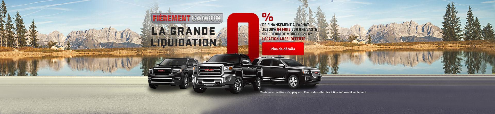 Fièrement camion - La grande liquidation