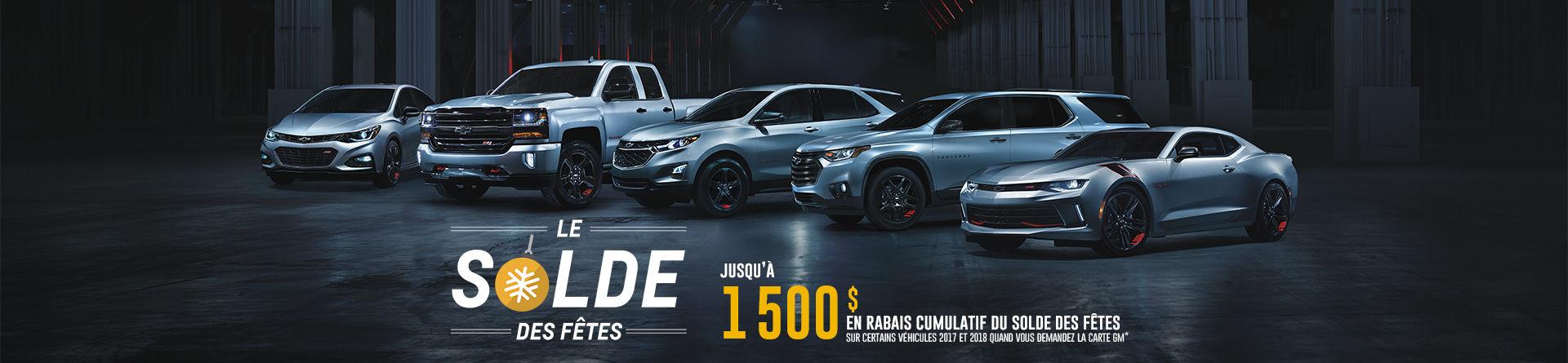 Programme Chevrolet 2017