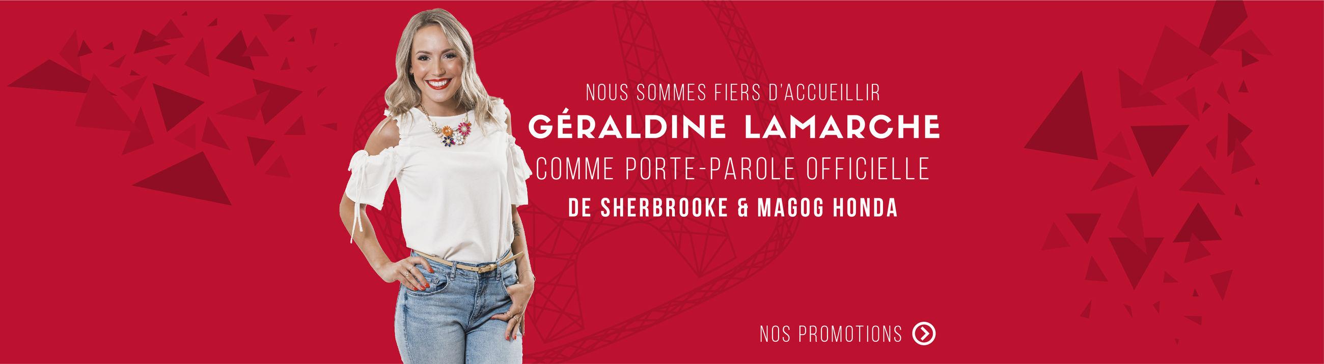 Géraldine Lamarche - Porte-parole officielle
