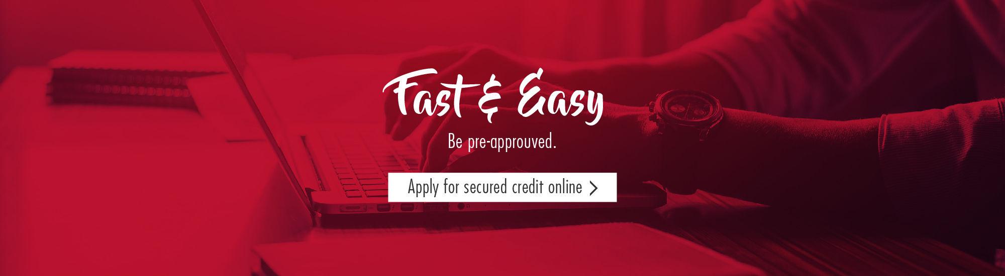 Apply for secured credit online