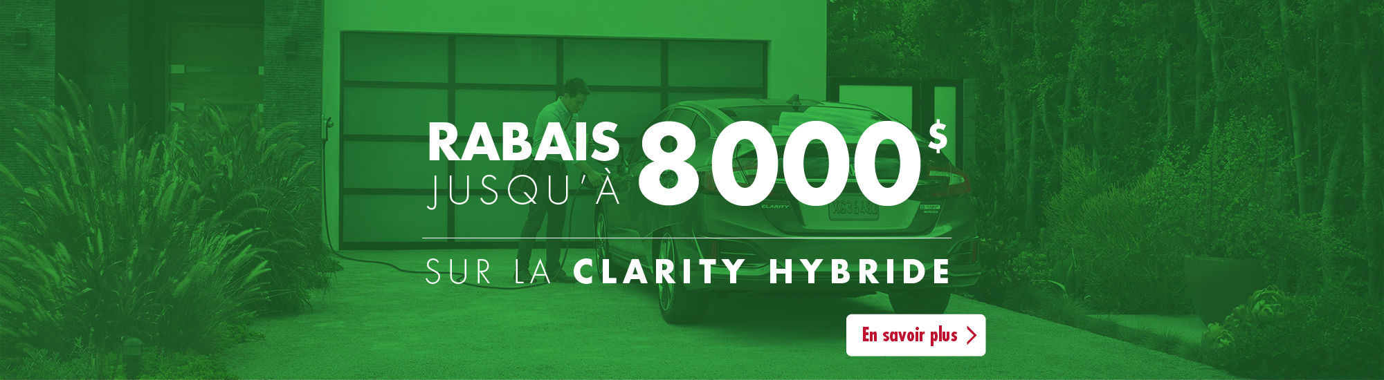 Rabais 800$ Honda Clarity hybride