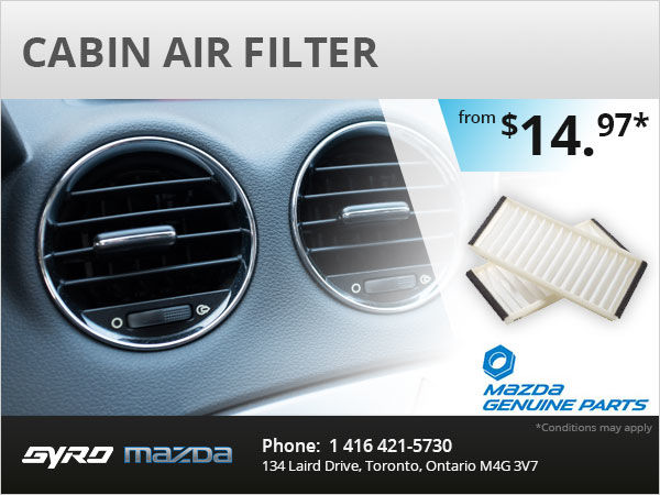 Cabin Air Filter Gyro Mazda Special Offer In Toronto