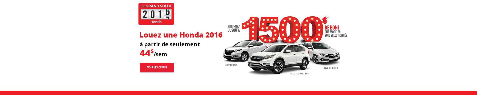La grande liquidation de Honda