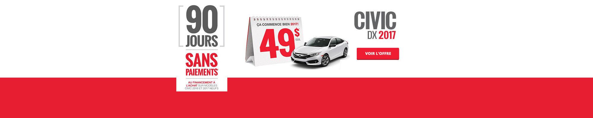 Louez une Honda à partir de 49$ - Civic