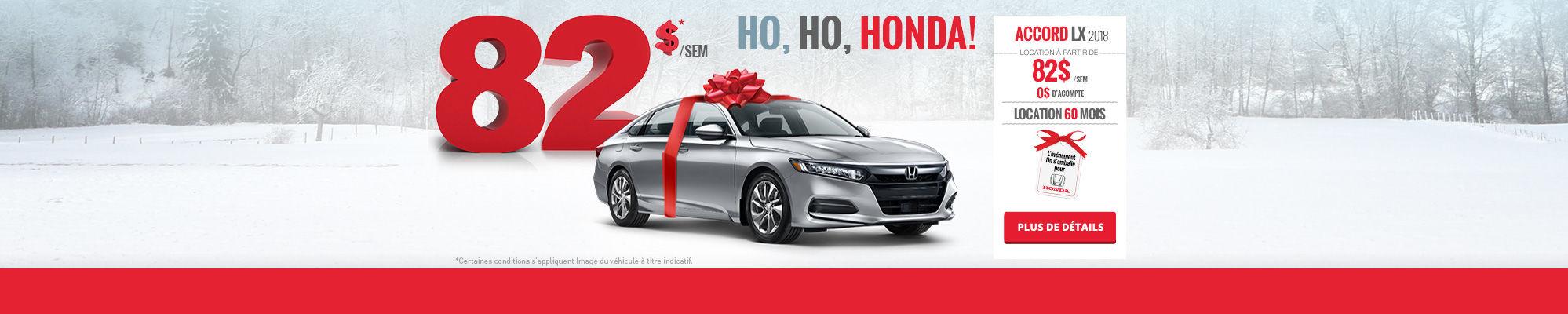 Ho, Ho, Honda! Louez une Accord!