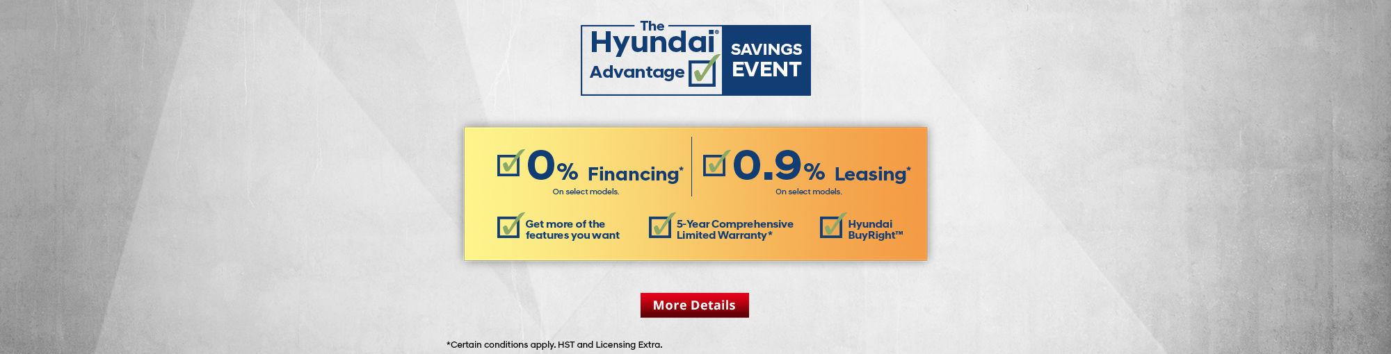 The Hyundai Advantage Savings Event