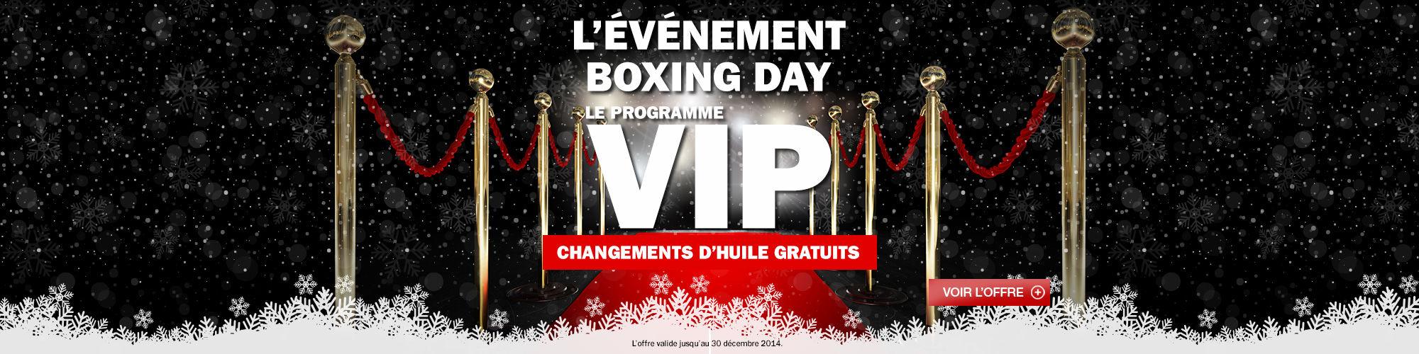 L'événement Boxing Day!