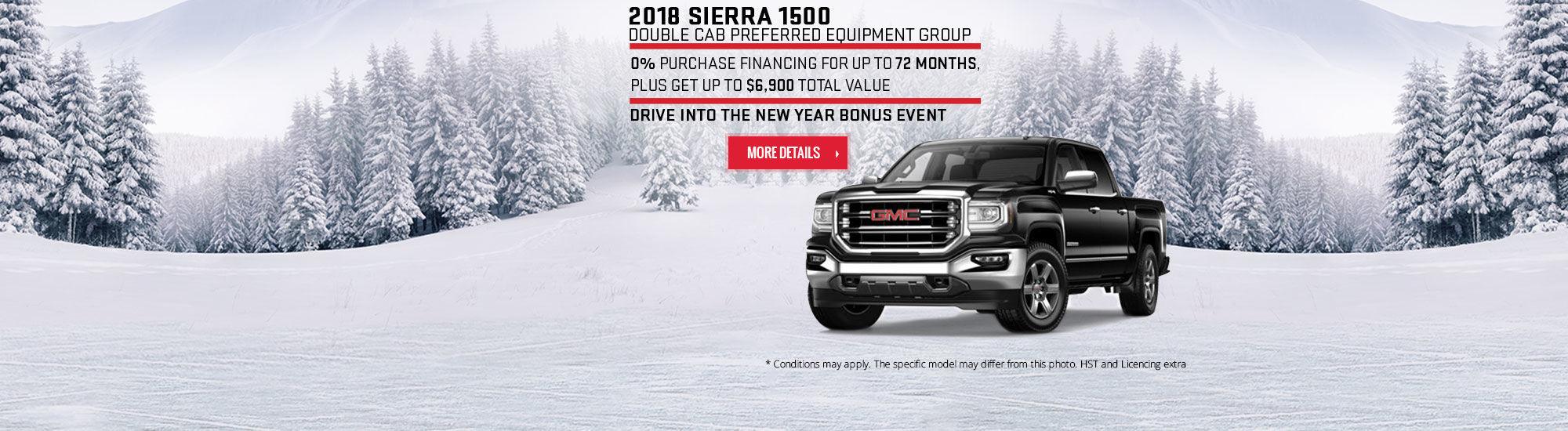 Drive Into the New Year Bonus Event - GMC - Sierra