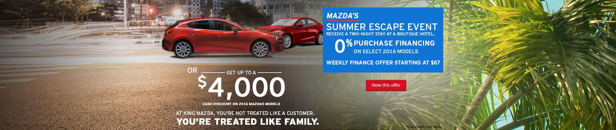 Mazda's Summer Escape Event-August