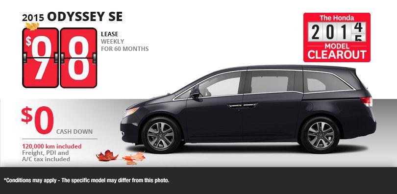 Honda odyssey se lease deals 2017 2018 honda reviews for Honda odyssey 2017 lease