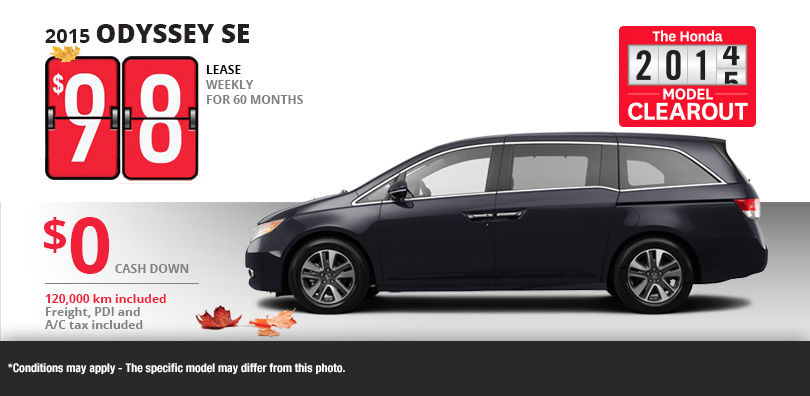 Honda promotions honda deals honda sales gatineau for Honda odyssey lease price