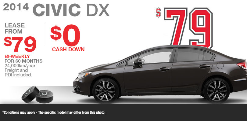 lease the new 2014 honda civic dx from 79 no cash down. Black Bedroom Furniture Sets. Home Design Ideas