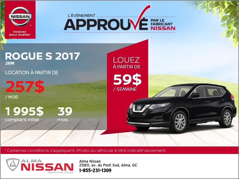Nissan Rogue 2017 en rabais