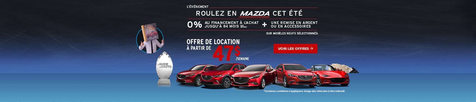 Roulez en Mazda cet été