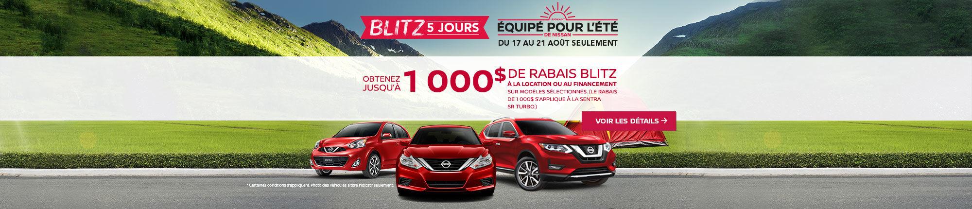 Blitz 5 jours Nissan Portail