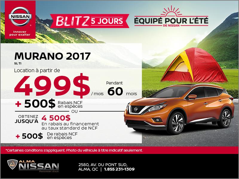 Nissan Murano SL 2017 | Blitz 5 jours