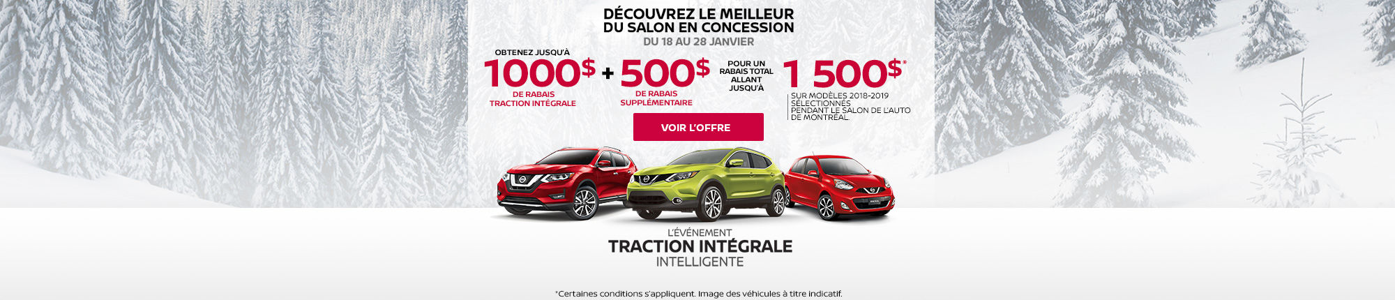 L'ÉVÉNEMENT TRACTION INTÉGRALE INTELLIGENTE!