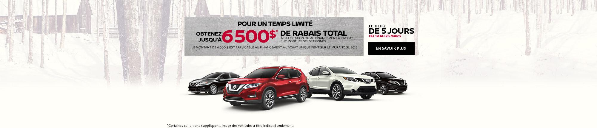 La vente 5 jours de Nissan